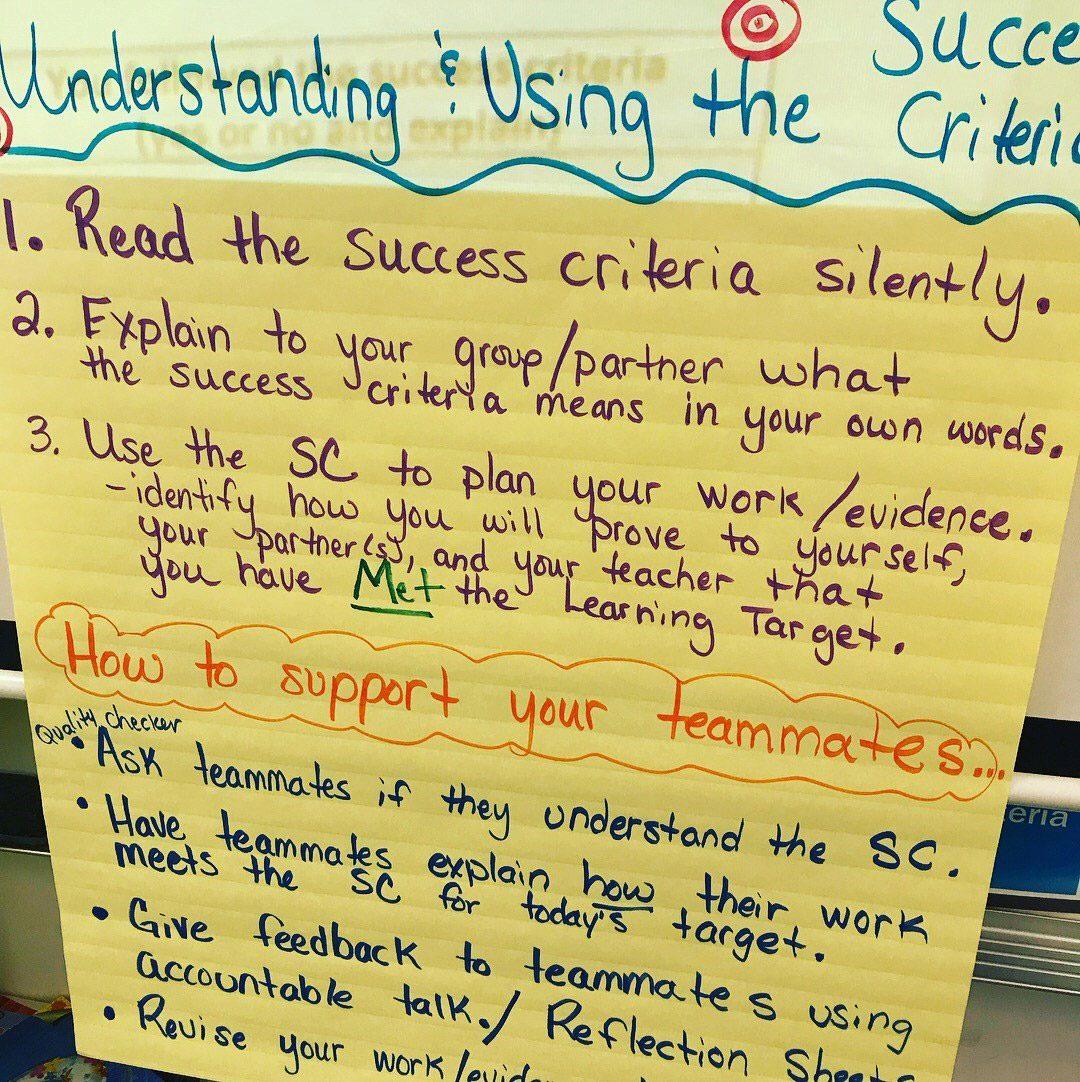 Success Criteria Poster